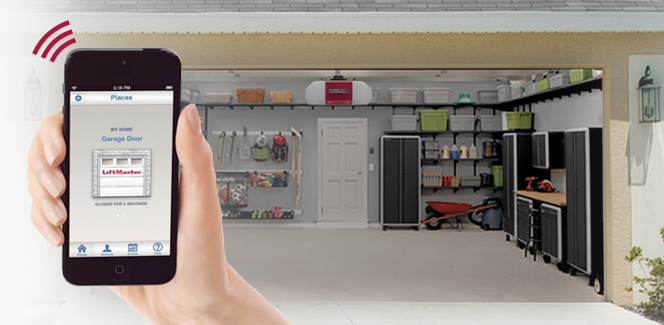 LiftMaster garage door openers with MyQ Wi-Fi capability